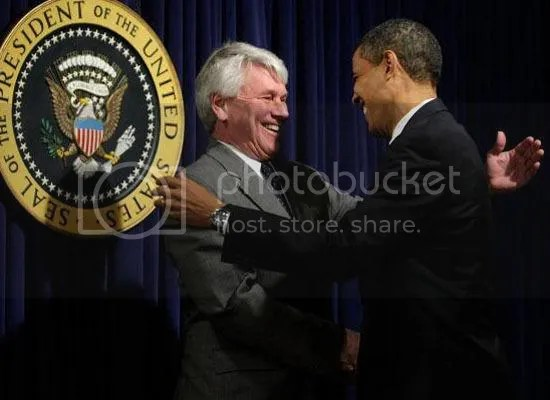 Obama greets White House Counsel Gregory Craig...