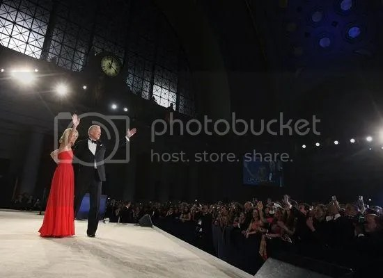 Vice President Joe Biden addresses the crowd at the Eastern Inaugural Ball in D.C.s Union Station...