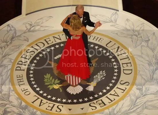 Vice President Biden dances with Jill Biden at the Commander-In-Chief Ball...