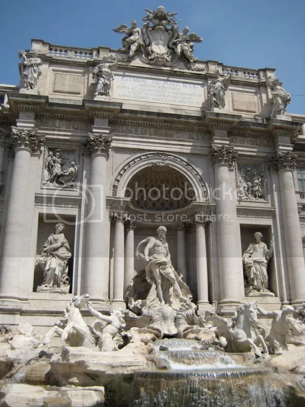 Trevi Fountain--built in 1762. . . relatively new!