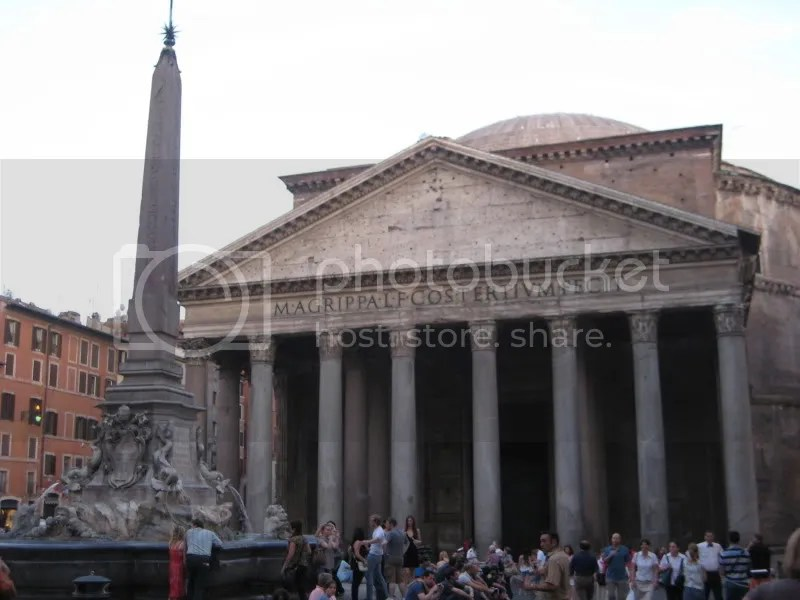 The Pantheon from the outside. . . taken the night before