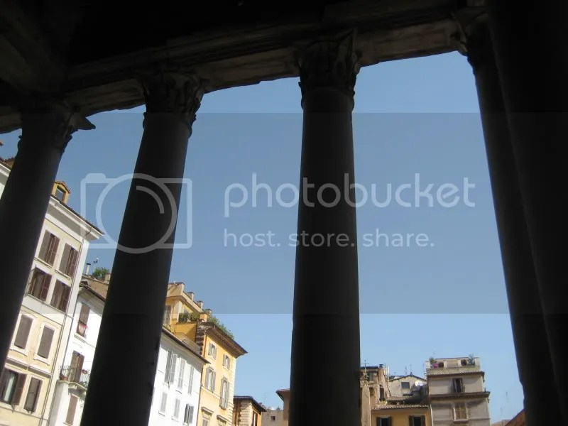 View from inside the columns