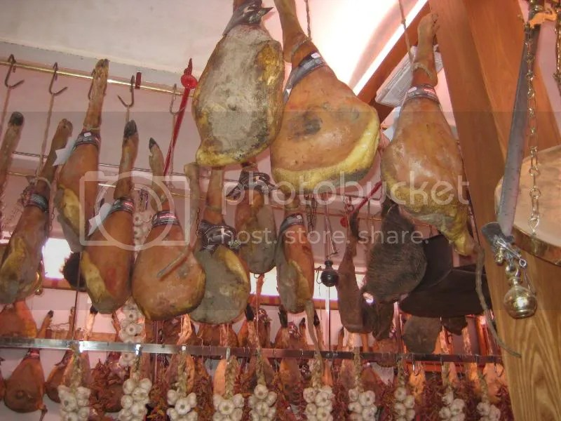 Doesnt look all that appealing in the ceiling like this. . . but the meat in Italy was fan-freakin-tastic!