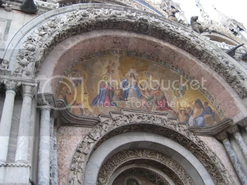 One of the many murals on the outside of St. Marks