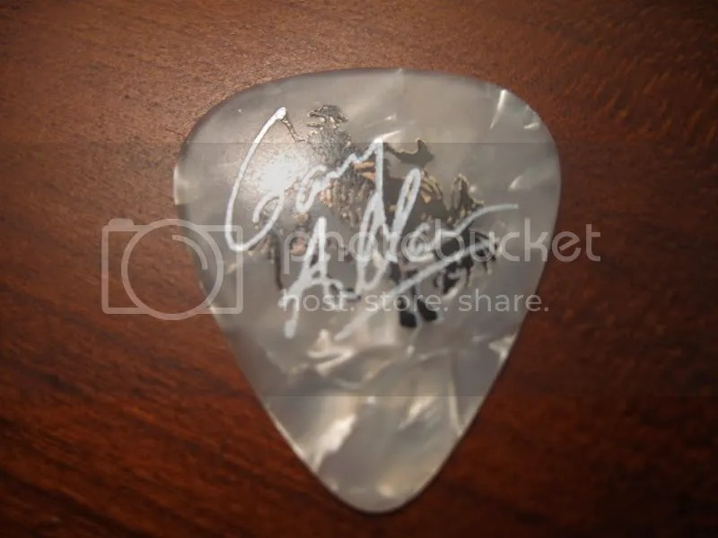 Front of the guitar pick
