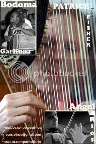 Bodoma Garifuna Group, with guests, Honduran Master violinist, Angel Rios,