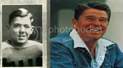 Ronald Reagan when he was young and then when he got older and he was an actor