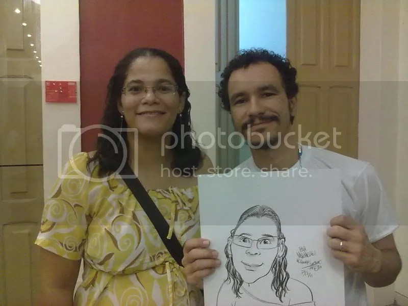 Minha Caricatura pelo artista Luciano Felix