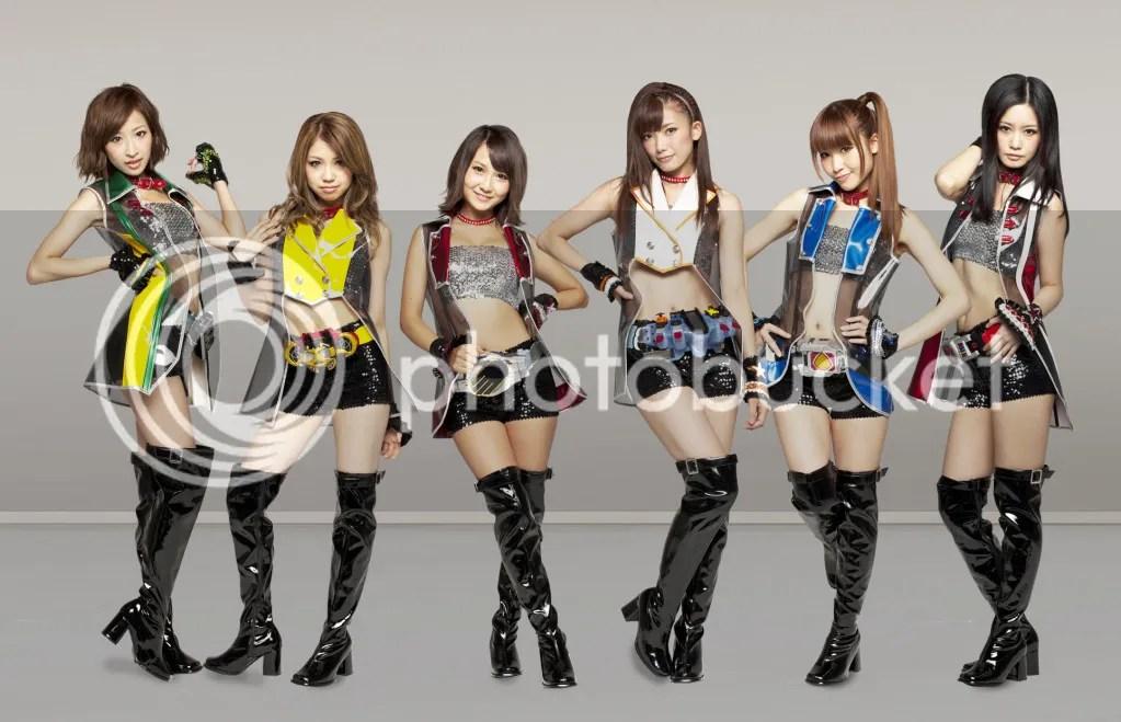 Formação atual de Kamen Rider GIRLS