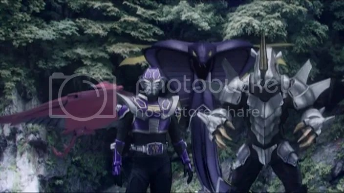 Ohja com seus Keiyaku Monsters: Evildiver, Venosnaker & Metalgelas