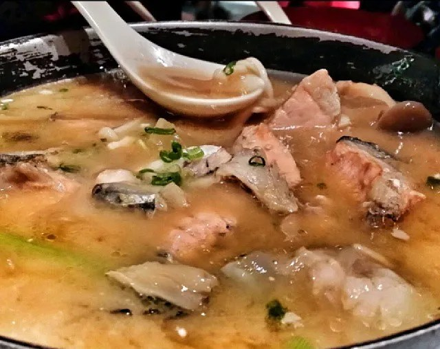 Salmon Head Miso Soup