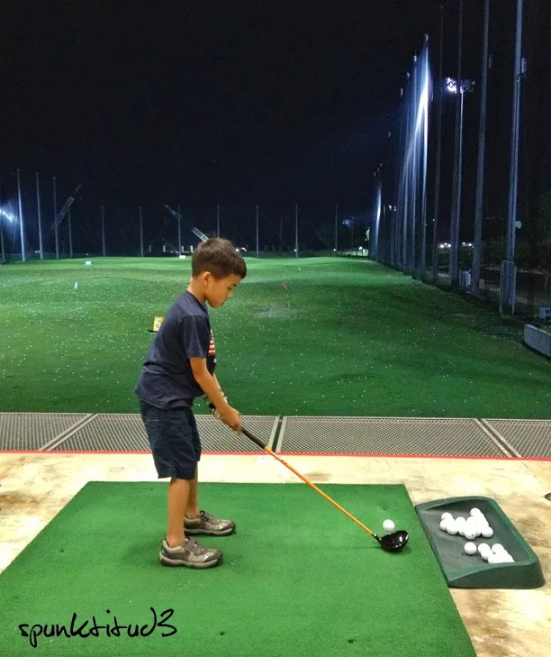 First Golf Lesson on Marina Bay Golf Course