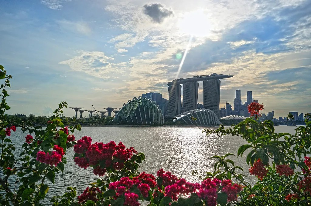 Singapore Landscape from Bay East