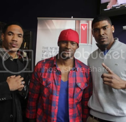 Devin Thomas,Tyson Beckford and Ramses Barden
