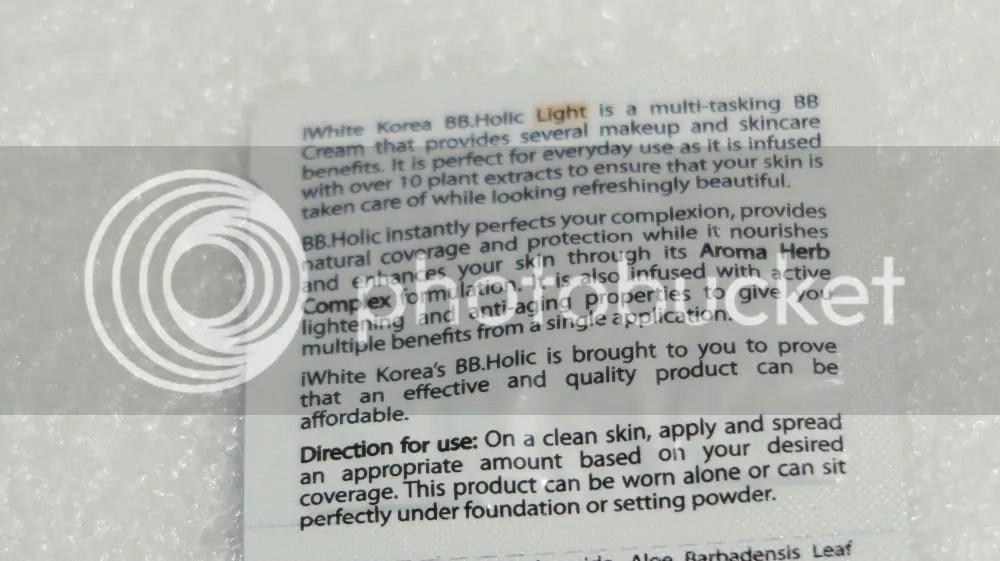 iWhite Korea BB holic Everyday Bb Cream Product Descriptions | Ingredients