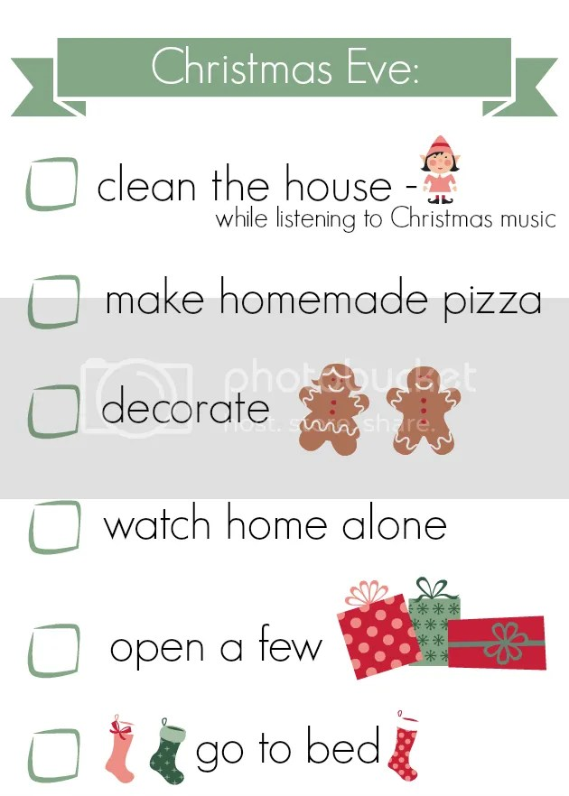 Christmas eve to do list