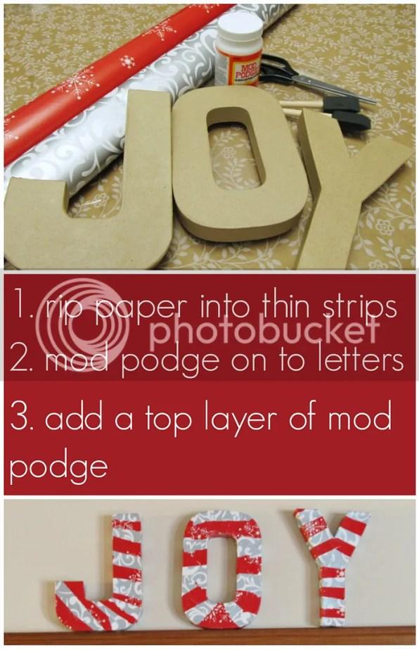 joy paper mache letters