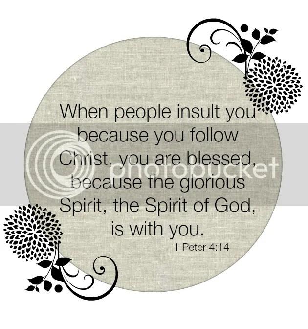 1 Peter 4:14