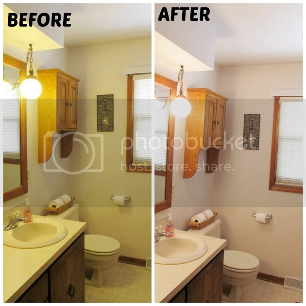 before and after GE reveal home lighting makeover