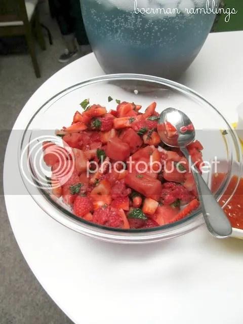 pink fruit salad