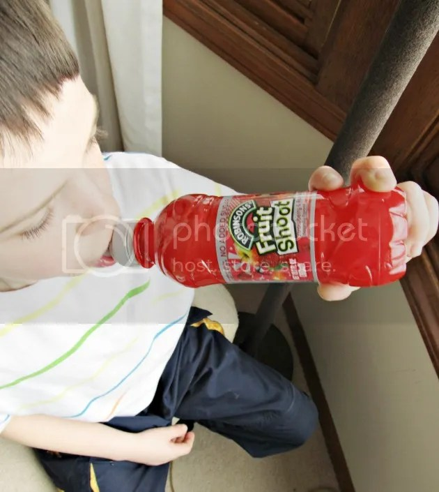 kid drinking Fruit Shoot #ad