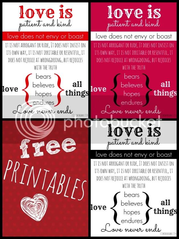 free valentine's pritnable