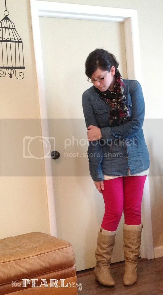 wiww and a giveaway pink pants maurices scarf