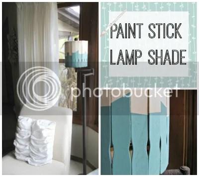 paint stick lamp shade