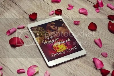 photo His Magic Touch on tablet with rose petals_zpsjg6akukf.jpg