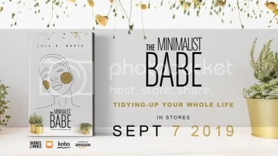 The Minimalist Babe standing book