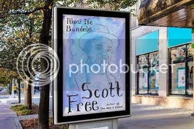 Scott Free sidewalk banner