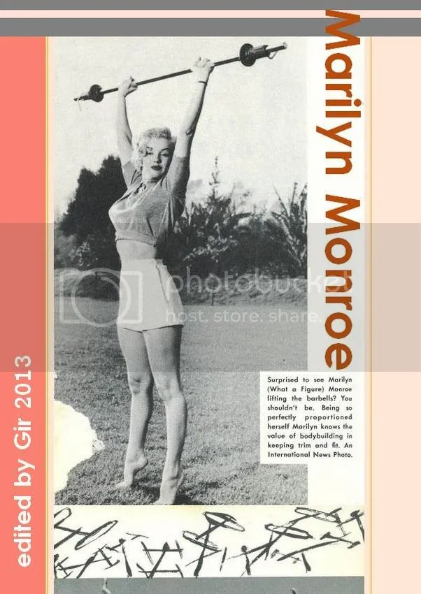marylin monroe photo: Marylin Monroe_lifting the barbells_1950s_edited by Gir 2013 Monroe_Marylin_liftingthebarbells_1950s_edGir2013_zps21b7f5b0.jpg