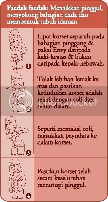 Cara pemakaian baju Envy