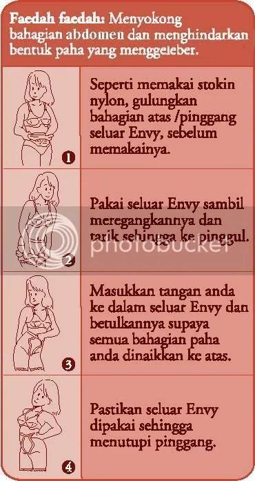 Cara pemakaian seluar Envy