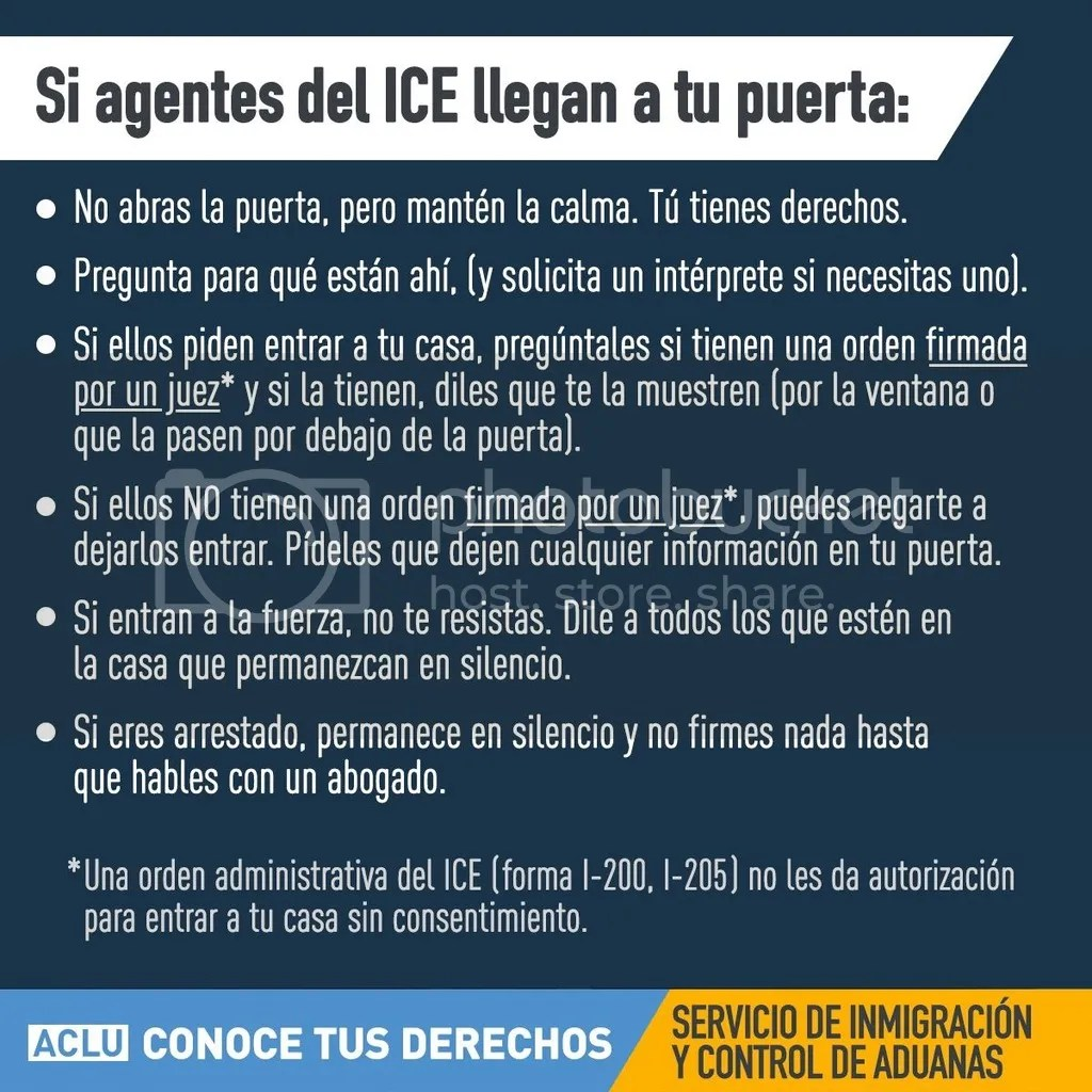 Know Your Rights in Spanish