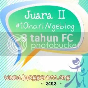 JUARA II 10hari ngeblog