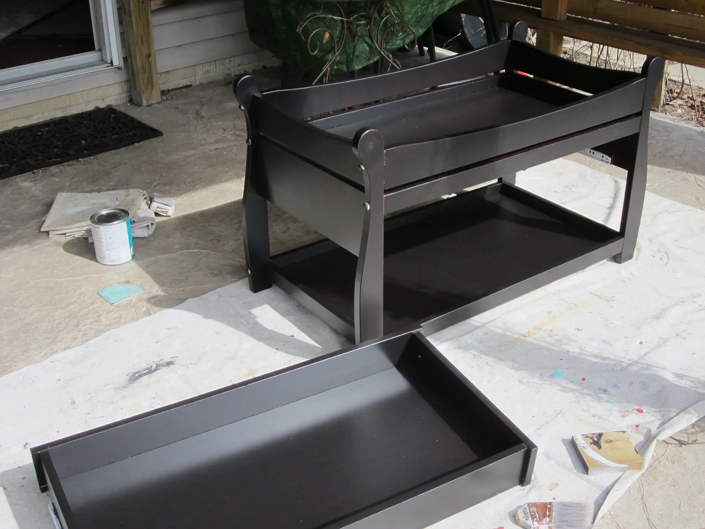 Baby Changing Table Turned Coffee Table / HomeStagingBloomingtonIL