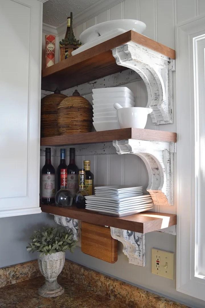 DIY Corbels for Open Shelving/HomeStagingBloomingtonIL.wordpress.com