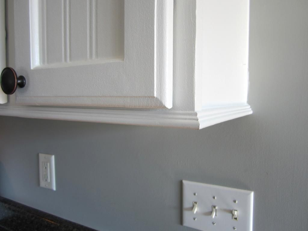 adding trim to bottom of kitchen cabinets trim for cabinets with no room for crown molding home 9691