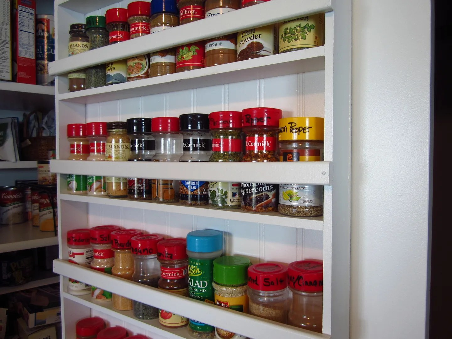 DIY Pantry Spice Rack/HomeStagingBloomingtonIL.wordpress.com