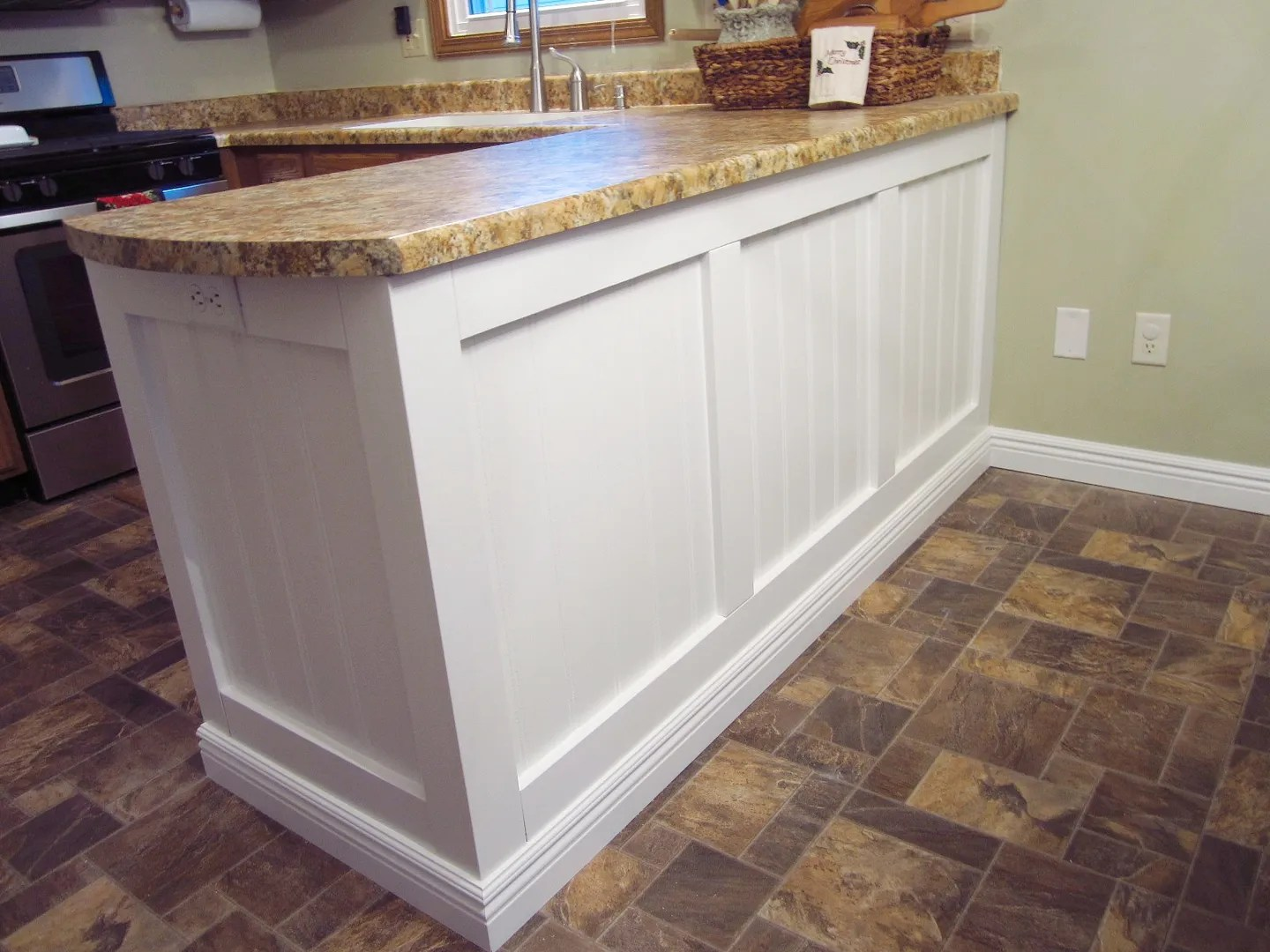 Add Character To A Kitchen Island/Peninsula HomeStagingBloomingtonIL