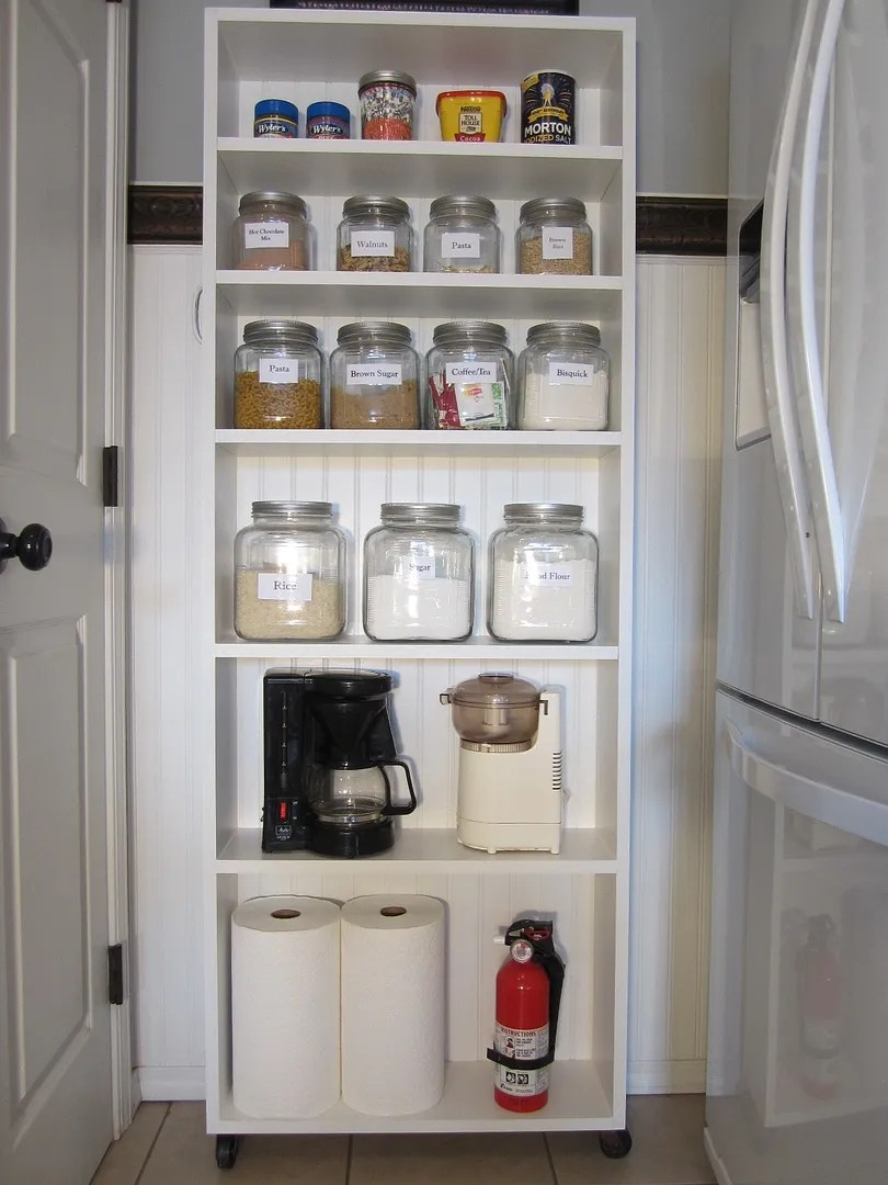 DIY Rolling Pantry / HomeStagingBloomingtonIL