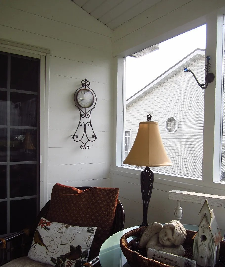 Shiplap in a Cottage-Style Porch/HomeStagingBloomingtonIL