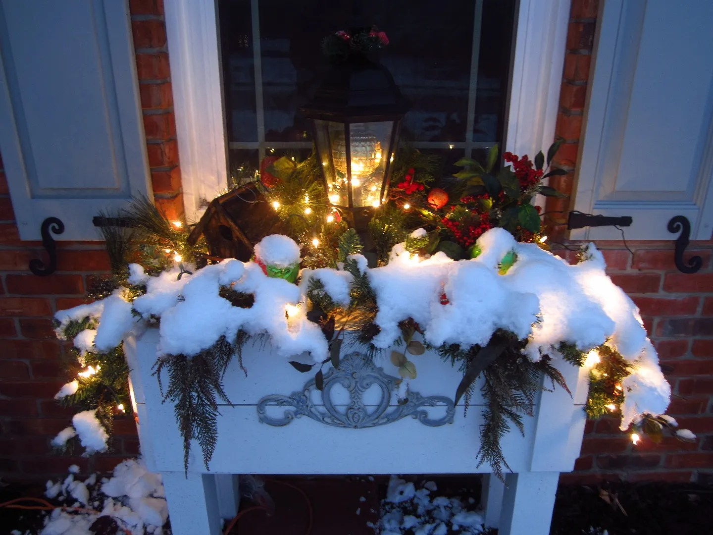 Winter Curb Appeal With Window Boxes/HomeStagingBloomingtonIL