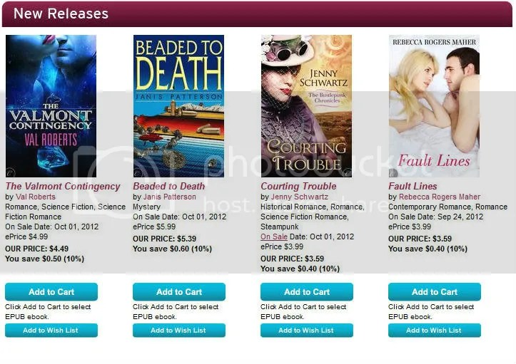 Carina new releases 1 Oct 2012