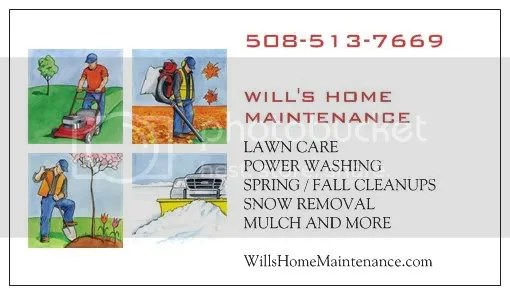 Will's Home Maintenance, http:/willslawns.com Lawn care service in Brockton Mass 508-513-7669 Easton, Abington, Stoughton, Whitman, Bridgewater, & Brockton Mass. 02301