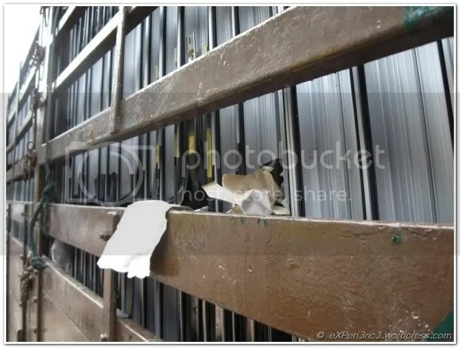 Ready-made glassframes stacked inside the lorry