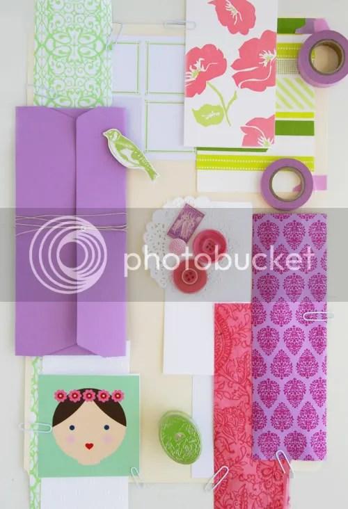 Pink, Green + Purple
