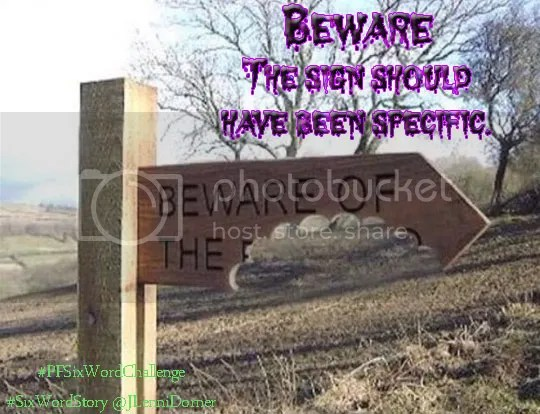 Beware #PFSixWordChallenge #SixWordStory @JLenniDorner