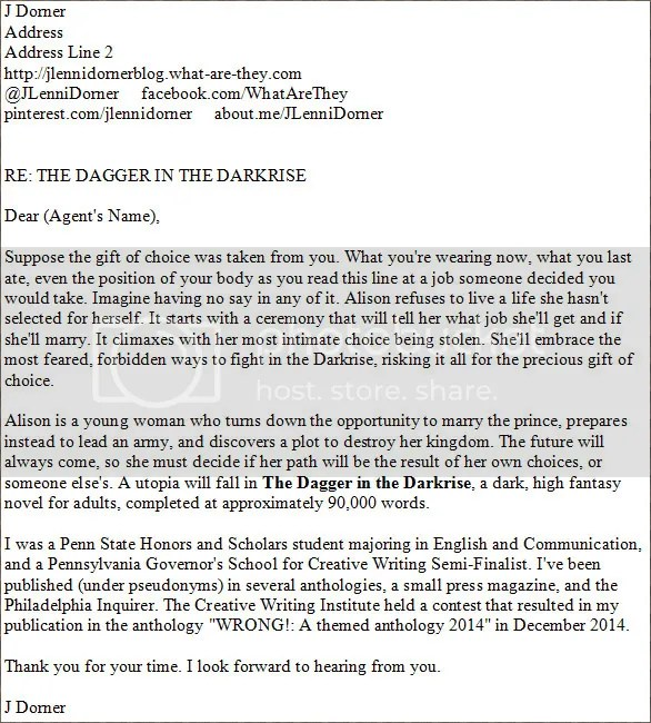 The Dagger in the Darkrise query letter image copy by @JLenniDorner
